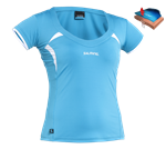 Salming Ladies Squash Top Cyan/White